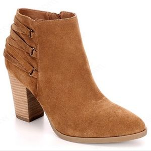 Franco Fortini Camel Suede Heeled Ankle Boots
